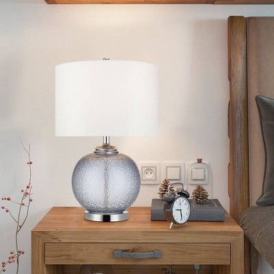"""23.5"""" Glass Table Lamp Gray (Includes LED Light Bulb) - Cresswell Lighting"""