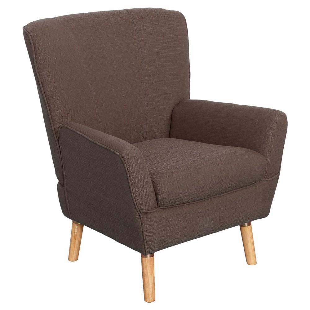 Demi Club Chair - Brown Linen - Corliving