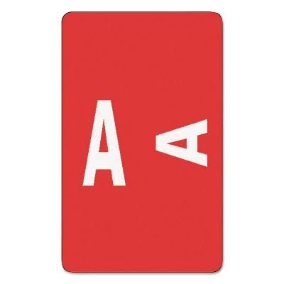 Smead Alpha-Z Color-Coded Second Letter Labels Letter A Red 100/Pack 67171