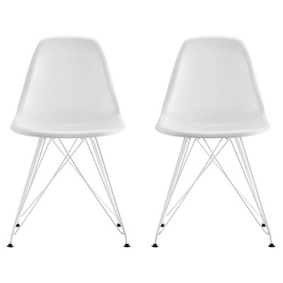 Mid Century Modern Molded Chair (Set Of 2)   Dorel Home Products : Target