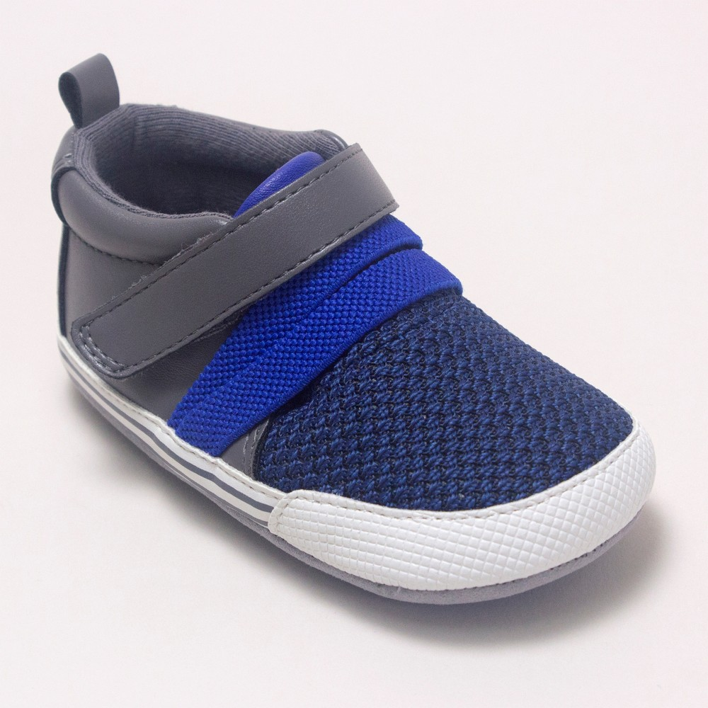 Image of Baby Boys' Ro+Me by Robeez Jake Athletic Shoes - Gray 12-18M, Kids Unisex, Size: Small