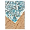 Medallion Woven Accent Rug Azure - Weave & Wander - image 2 of 3