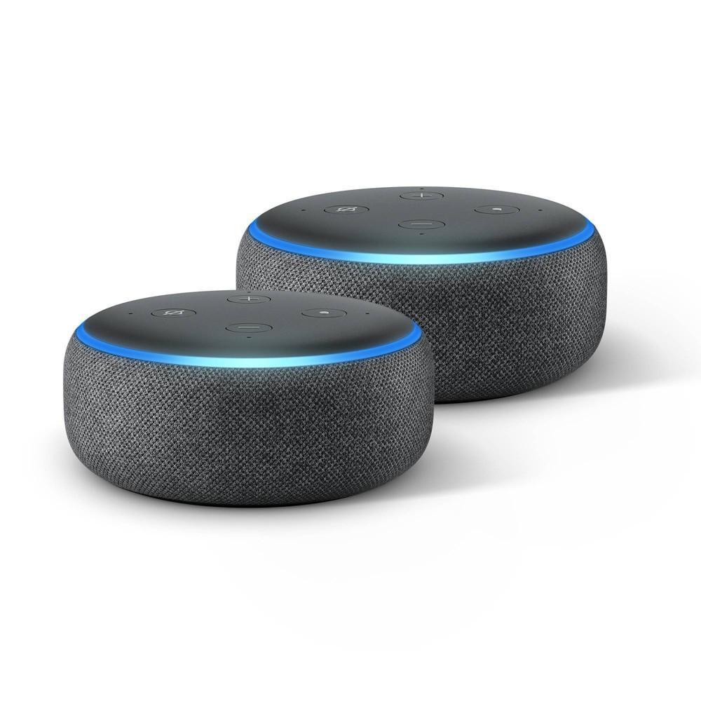 Amazon Echo Dot 3rd Generation Black 2 Pack