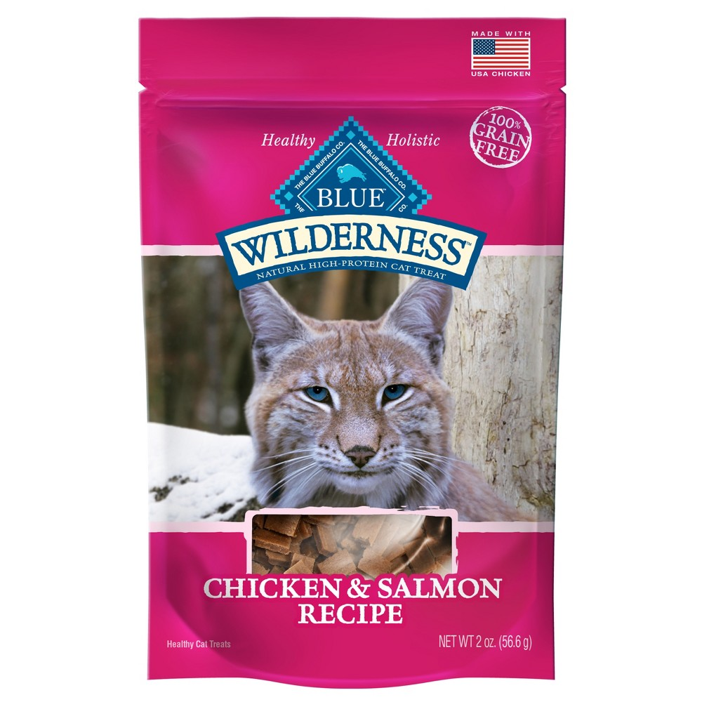 Blue Buffalo Wilderness 100% Grain-Free Chicken & Salmon Recipe Cat Treats - 2oz