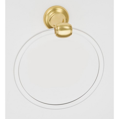 """Alno A7340 Royale Acrylic 6"""" Diameter Towel Ring - image 1 of 1"""