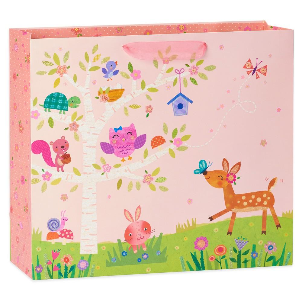 Papyrus Baby Girl Woodland Jumbo Gift Bag, Multi-Colored