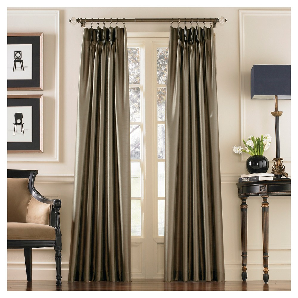 "Image of ""Curtainworks Marquee Lined Curtain Panel - Bronze (144"""")"""