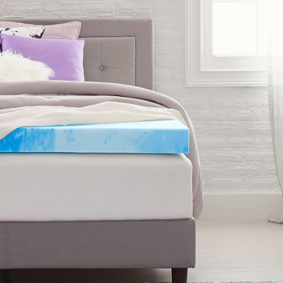 "4"" Gel Infused Memory Foam Mattress Topper - Comfort Revolution"