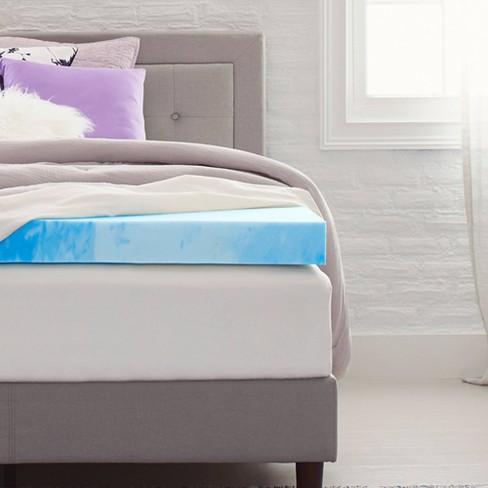 "4"" Gel Infused Memory Foam Mattress Topper - Comfort Revolution - image 1 of 4"