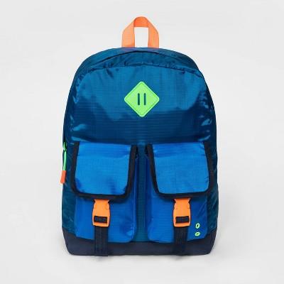 Boys' Double Front Pocket Backpack - Cat & Jack™ Blue