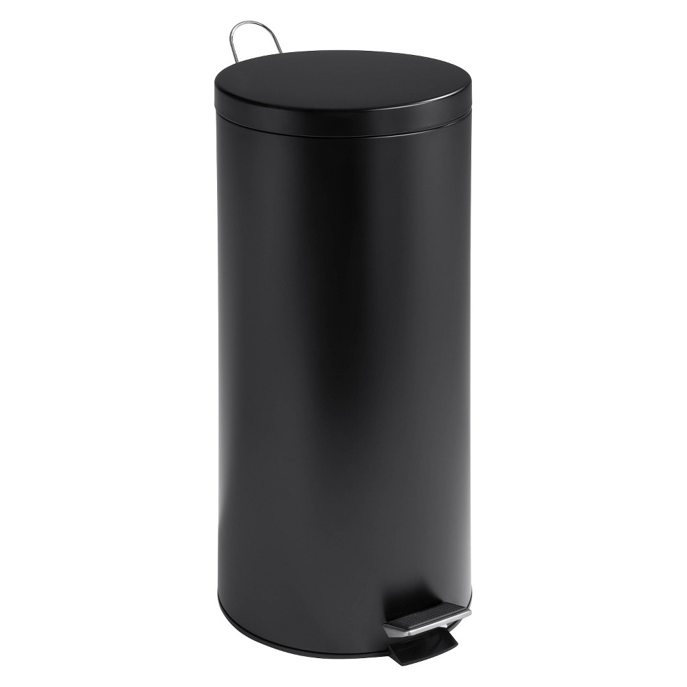 Honey-Can-Do 30 Liter Step Trash Can - Black