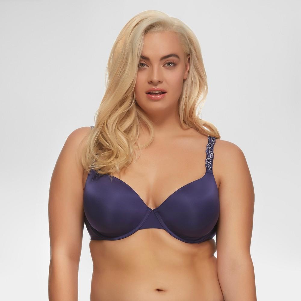 Paramour Womens Lissa Contour Bra Blue 36ddd