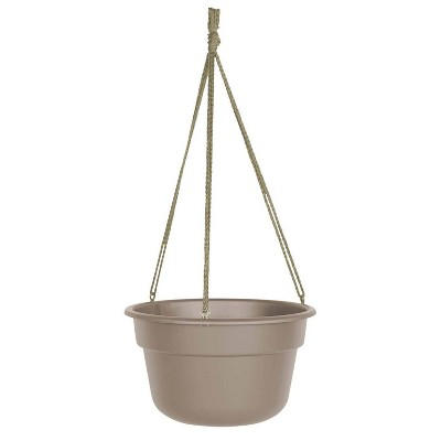 "12"" Dura Cotta Self Watering Hanging Basket Planter Pebble Stone - Bloem"