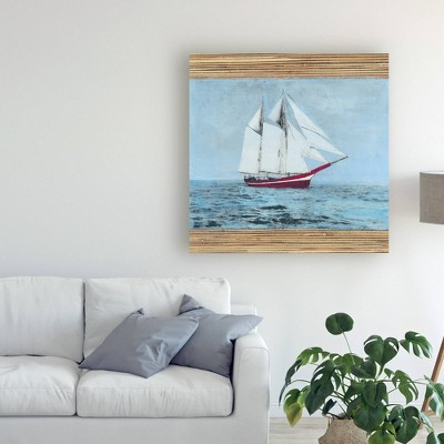 "24"" x 24"" Seagrass Nautical I by Naomi Mccavitt - Trademark Fine Art"