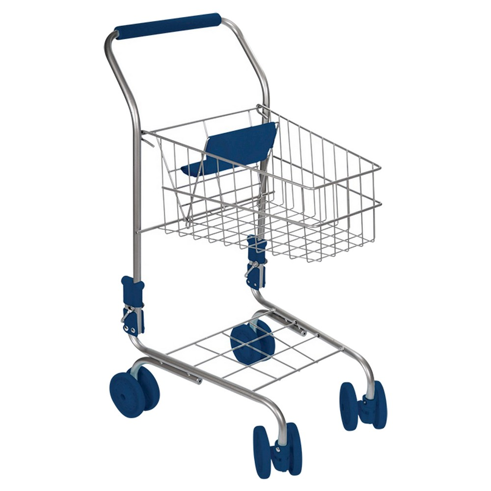 Toysmith Toy Shopping Cart The Toysmith Kids' Miniature Shopping Cart stimulates the imagination and provides hours of playtime fun. This miniature shopping cart is fully functional and perfect for pretend time at home. The cart features sturdy wheels and tough metal wire construction, just like the real thing. This toy is suitable for indoor or outdoor play. Some assembly required. Recommended for ages 3 years and up. The cart features sturdy wheels and tough metal wire construction, just like the real thing. This toy is suitable for indoor or outdoor play. Some assembly required. This realistic car is 24 tall when fully assembled. Recommended for ages 3 years and up. Gender: Unisex.