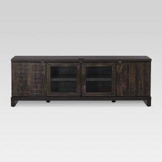 """65"""" TV Stand Weathered Pine - Threshold™"""