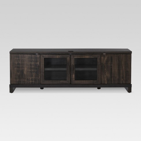 65 Tv Stand Weathered Pine Threshold