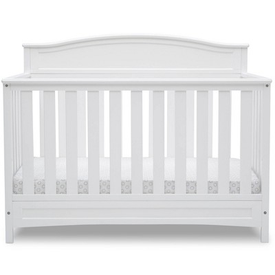 Delta Children Emery Deluxe 6-in-1 Convertible Baby Crib - Bianca White