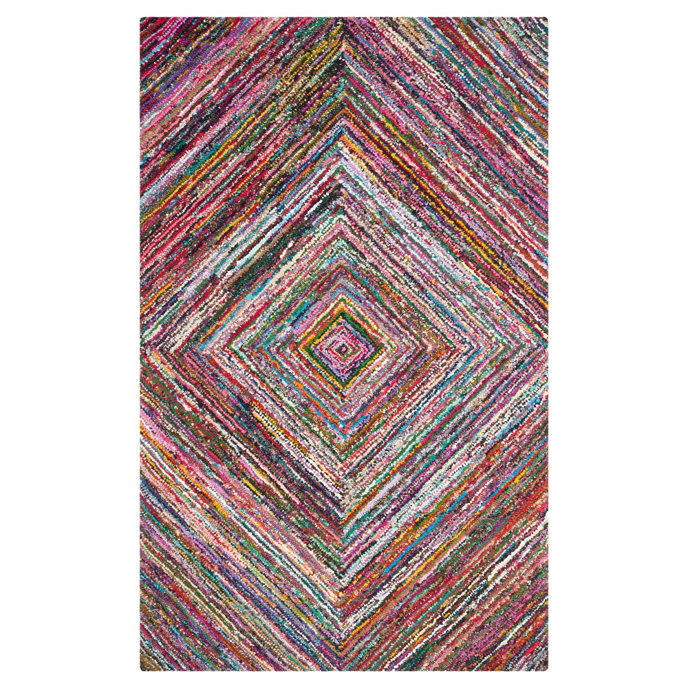 Abstract Tufted Area Rug - (4'X6') - Safavieh, Multi-Colored