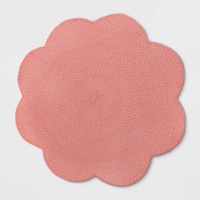 "54"" Braided Scallop Rug Rose Pink - Pillowfort™"
