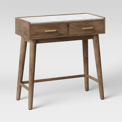 Palmera Marble Top Wooden Console with Drawers Dark Brown - Project 62™