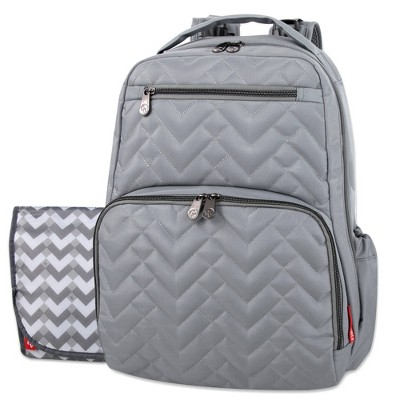Fisher-Price Quilted Morgan Backpack - Gray