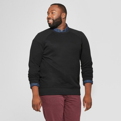 Men's Tall Standard Fit Long Sleeve Waffle Thermal T-Shirt - Goodfellow & Co™ Black MT - image 1 of 3