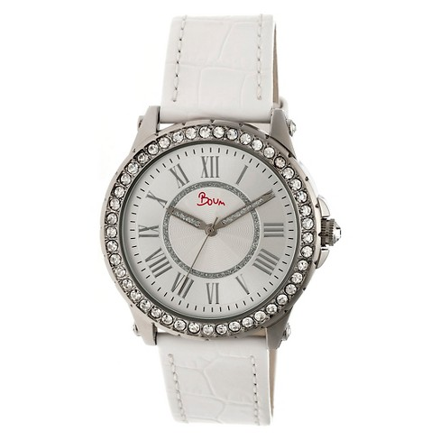 Women's Boum Belle Watch with Crystal Surrounded Bezel- White - image 1 of 3