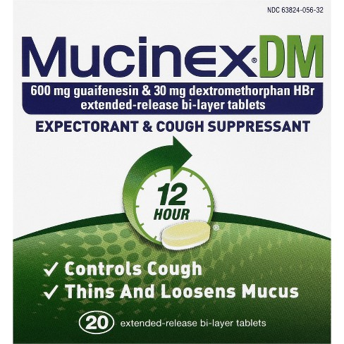 Mucinex DM Expectorant & Cough Suppressant Tablets - Guaifenesin - 20ct - image 1 of 1
