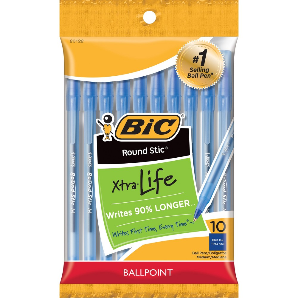 BIC Xtra Life Ballpoint Pens, Medium Tip, 10ct - Blue was $1.49 now $0.99 (34.0% off)