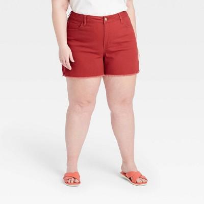 Women's Plus Size Midi Jean Shorts - Ava & Viv™