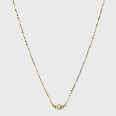 SUGARFIX by BaubleBar 14K Gold Plated Delicate Evil Eye Pendant Necklace - Gold