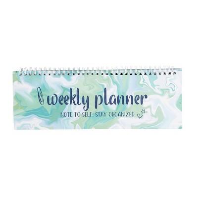 Weekly Planner - Spiral Weekly Planner Pad, Undated Desk Calendar, 11.7x4.1 inches