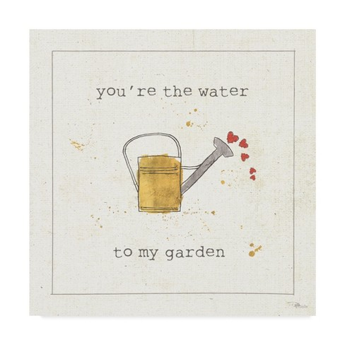 "14"" x 14"" Pela Studio 'Garden Notes I' Unframed Wall Canvas - Trademark Fine Art - image 1 of 3"