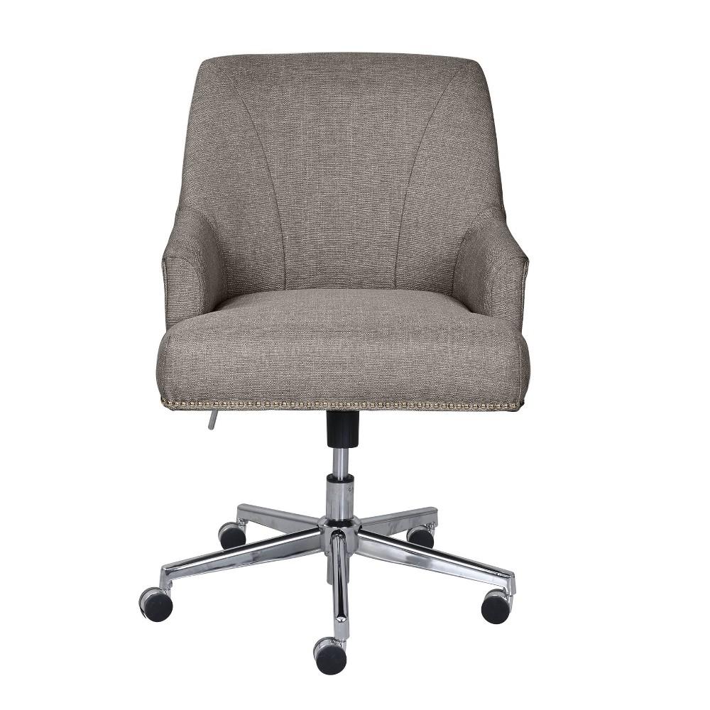 Leighton Home Office Chair Medium Gray Serta