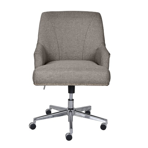 Leighton Home Office Chair Medium Gray Serta Target