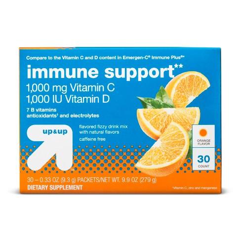 Vitamin C + D Immune Support Powder - Orange - 30ct - Up&Up™ - image 1 of 1
