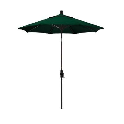 7.5' Aluminum Collar Tilt Crank Patio Umbrella - California Umbrella