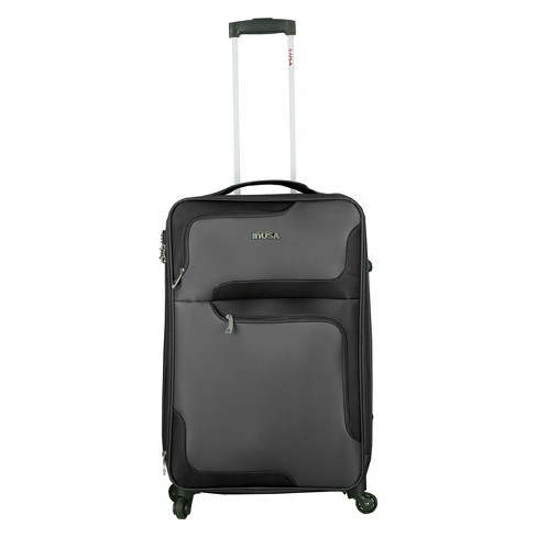"InUSA 3D-City 24"" Softside Spinner Suitcase - Gray - image 1 of 4"
