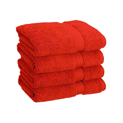 Plush and Absorbent Cotton 4-Piece Hand Towel Set - Blue Nile Mills