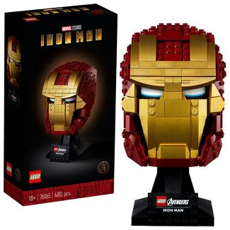 LEGO Marvel Avengers Iron Man Helmet Displayable Iron Man Mask for Marvel Fans 76165