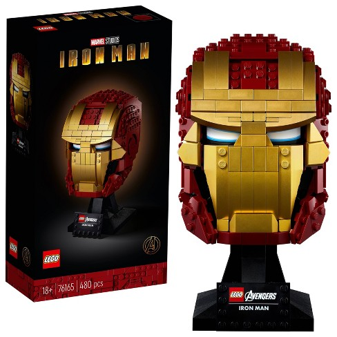 Lego Marvel Avengers Iron Man Helmet Displayable Iron Man Mask For Marvel Fans 76165 Target