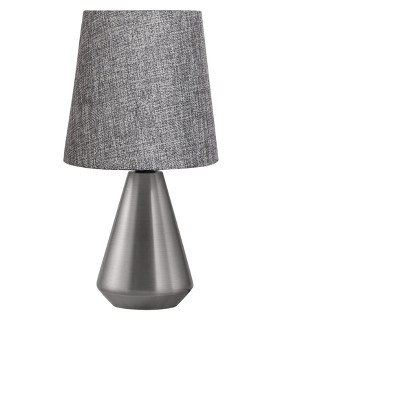 Metal Base Table Lamp Gray with Textured Blue Shade - Adesso
