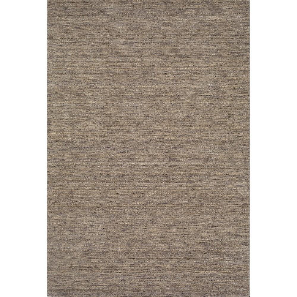 9'x12' Tonal Solid 100% Wool Area Rug Granite - Addison Rugs