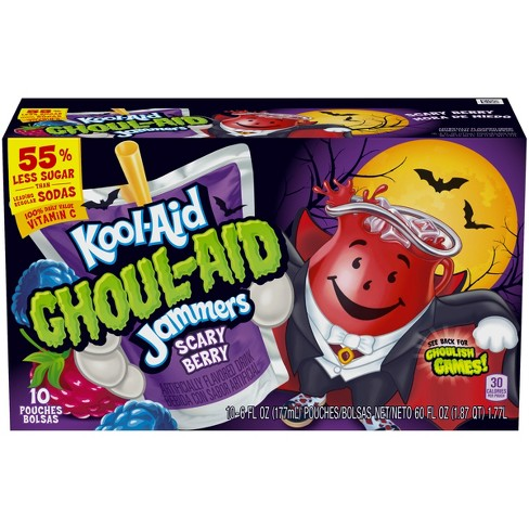 Kool Aid Ghoul Aid Blackberry Juice Drinks 10pk 6 Fl Oz Pouches Target