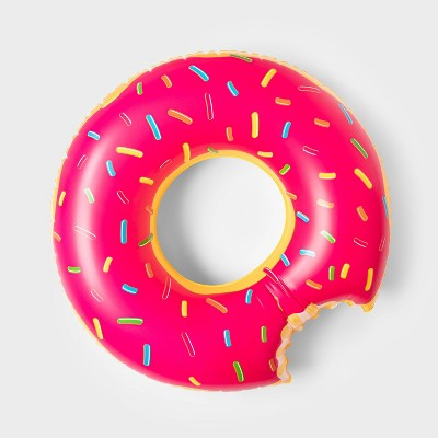 Strawberry Donut Pool Float Bright Red - Sun Squad™