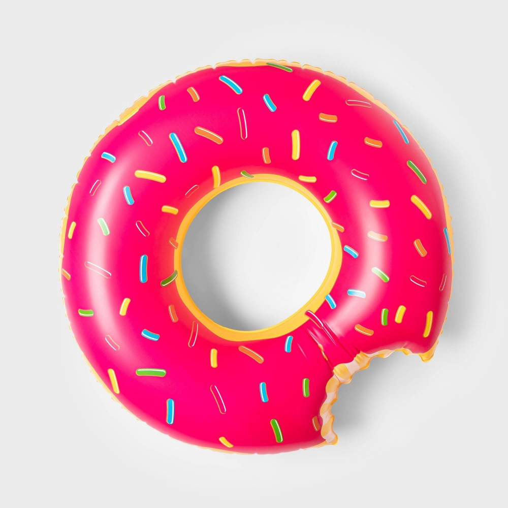 Strawberry Donut Pool Float Bright Red Sun Squad 8482