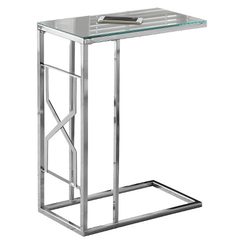 Accent Table with Mirror Top - Chrome Metal - EveryRoom - image 1 of 2
