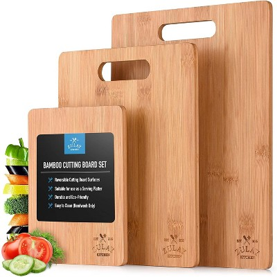 Zulay Kitchen Bamboo Wooden Cutting Boards