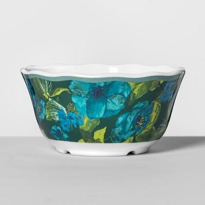 Melamine Bowl 24oz Blue/Green Floral - Opalhouse™